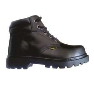 Zapato cajonado de cuero con punta de acero marca DRIFTing