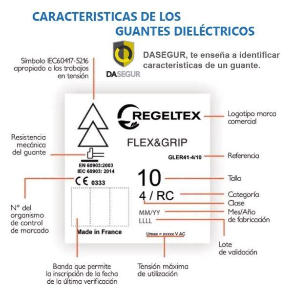 Principales características del marcaje de los guantes dieléctricos